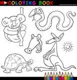 Tiere für Farbton-Buch oder Seite Lizenzfreie Stockfotografie