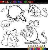 Tiere für Farbton-Buch oder Seite Stockfoto