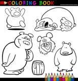 Tiere für Farbton-Buch oder Seite Lizenzfreies Stockfoto