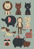 Tiere /illustration Stockfotos