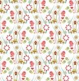 Tiere im Garten-Muster Stockbilder