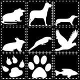 Tiere im Stempel Stockbild