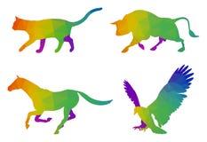 Tiere Logo Templates Lizenzfreie Stockbilder