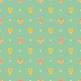 Tiere mit Liebesvektor patterm Stockbild
