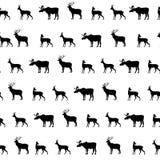 Tiere silhouettieren nahtloses Muster Wild lebende Tiere deckten strukturiertes BAC mit Ziegeln lizenzfreie abbildung