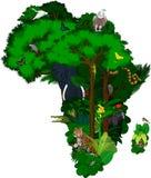Tiere und Blumen-Afrika - Vektor Stockbilder