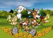 Tiere und Ostern Lizenzfreies Stockbild