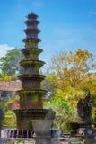 10-Tiered декоративный фонтан на Tirta Gangga в Индонезии Стоковое Изображение