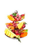 Tiered bowl of fruit Royalty Free Stock Photos