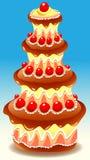 Tiered Cake stock illustratie