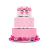 Tiered Cakes Isolated. On white background. 3D render Royalty Free Stock Images