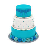 Tiered Cakes Isolated. On white background. 3D render Royalty Free Stock Photos