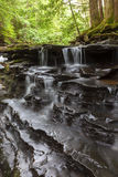 Tiered Cascade At Bozenkill. Tiered cascades at Bozenkill Preserve in New York stock photo
