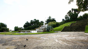 Tiered fountain in the gardens of Miramar Royalty Free Stock Image