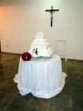 Tiered huwelijkscake Stock Afbeelding