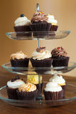 Cupcakes Tiered Tray Stock Photography
