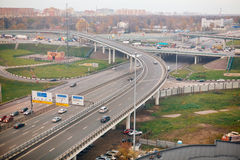 Tiered road junction in city Stock Photos