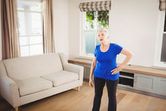 Tiered senior woman after a workout Royalty Free Stock Photos
