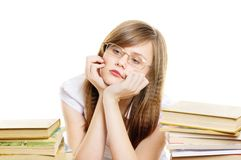 Tiered student girl Stock Photo