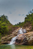3 Tiered Waterfall. A beautiful day to hike to the peak of the waterfall Royalty Free Stock Photos