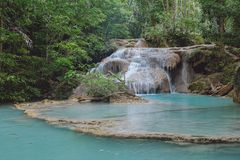 Tiered waterfall in Thailand Royalty Free Stock Image
