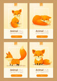 Tierfahne mit Füchsen für Webdesign lizenzfreie abbildung