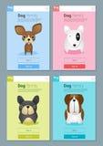 Tierfahne mit Hunden für Webdesign Lizenzfreie Stockfotos