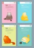Tierfahne mit Katzengeschichte für Webdesign Stockfotografie