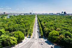 Tiergarten and Berlin citry center ponarama view Stock Images