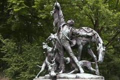 Tiergarten fox hunt statue Royalty Free Stock Photo
