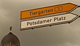 Tiergarten - Potsdamer Platz - Berlin Photo stock