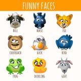 Tierische lustige Gesichter vektor abbildung