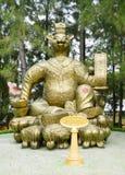 Tierische mystische goldene Statue Lizenzfreies Stockbild