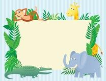 Tierische themenorientierte Illustration mit Kopienraum Stockfotos