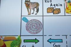 Tierisches englisches Aufkleberspiel auf Papier Stockbilder