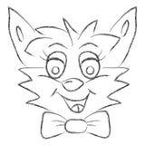 Tierisches lustiges Gesicht eigenhändig gezeichnet Lizenzfreies Stockbild