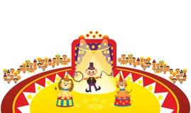 Tierischeszahmeres im Zirkus Stockfotos