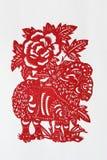 Tierkreis chinesischer Papier-Ausschnitt (Schafe) Stockfoto