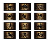 Tierkreis kennzeichnet Hintergrund Stockfotos