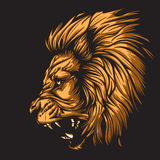 Tierkreis Leo Black Stockfoto