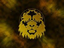 Tierkreis Löwe Starfield Lizenzfreies Stockfoto