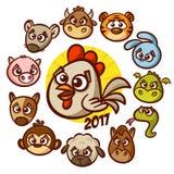 Tierkreis-Tier-Horoskop des Chinesischen Neujahrsfests lizenzfreie abbildung