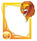 Tierkreisfeldserie: Löwe Lizenzfreies Stockbild