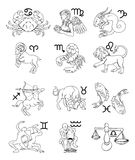 Tierkreishoroskop-Astrologiezeichen Stockbild