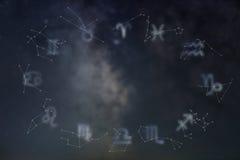 Tierkreiskonstellationen Zwei Karikaturfische Zeichen des Tierkreises Lizenzfreies Stockbild