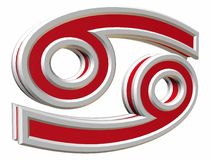 Tierkreiskrebs simbol Lizenzfreies Stockbild