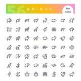 Tierlinie Ikonen-Satz stockbild