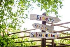 Tierpark Sommerhausen. Stock Photos