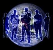 Tierra 1 de la gente de la cortina ilustración del vector