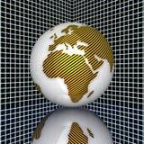 tierra 3d ilustración del vector